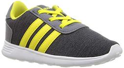 adidas Baby Lite Racer Running Shoe Carbon/Shock Yellow/Onix