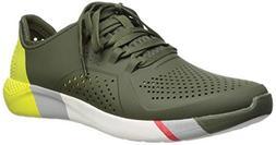 Crocs Men's LiteRide Colorblock Pacer Sneaker Army Green/Whi