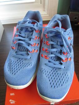 Nike Lunatempo Light Blue Orange Sneakers  #818098 400  Woma