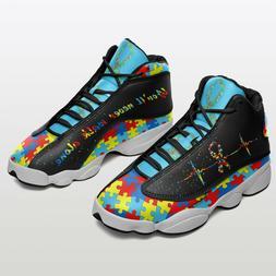 For Men Autism Awareness Air Jordan 13 Shoes Sneakers 2021 2