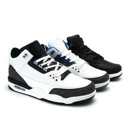 Men Basketball Shoes High Top Hook Loop Running Sport Sneake
