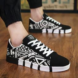 Men <font><b>Casual</b></font> Canvas Shoes Fashion Print <f