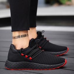 Men <font><b>Sneakers</b></font> Black Mesh Breathable Runni