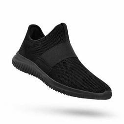 QANSI Men Gym Shoes Slip-on Fashion Sneakers Lightweight Run