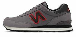 New Balance Men's 515 Shoes Grey with Black & Red