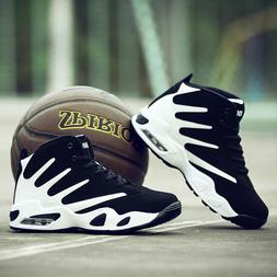 Men's Air Cushion Basketball Shoes Boots High Top Sports Sne