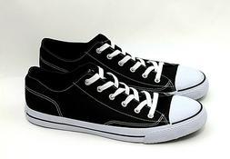 AIRWALK Men's Athletic Shoes Size 14 Black&White Canvas Snea