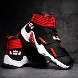 Men's  Basketball Shoes Breathable Boots High Top clasp Snea