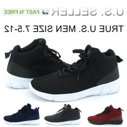 Men's Basketball Shoes High Top Athletic Sneakers Light Weig