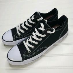 Men's Airwalk Black Classic Canvas Cap Toe Lace Up Sneakers-