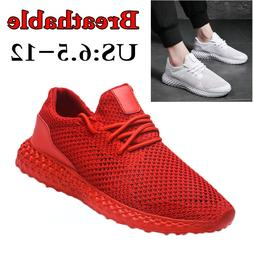 Men's Breathable Sneakers Casual Air Mesh Running Walking Sp
