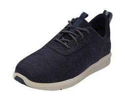 TOMS Men's Cabrillo Sneaker Navy Slubby Cotton Sneakers