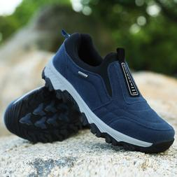 Men's Casual Shoes Slip On Outdoor Sneakers Breathable Hikin