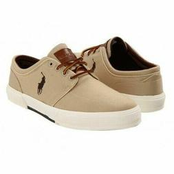 Polo Ralph Lauren Men's Classic Faxon Low Pumice Canvas Shoe