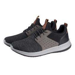 Skechers Men's Classic Fit Delson-Camden Sneakers, Black/Gre