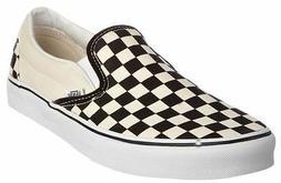 Men's Vans Classic Slip-on Black White Checker Fashion Sneak