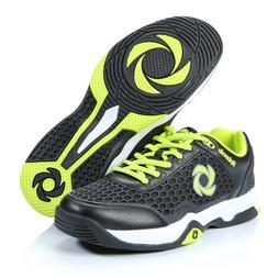 ROTASOLE Men's Court Tennis Shoes 9 black/green Rotating Sol