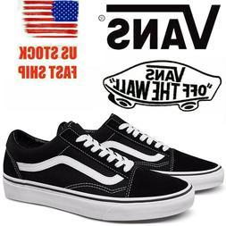 Men's Vans Old Skool Fashion Sneaker Classic Black White Can