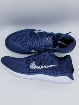 MEN'S Nike Free Rn Flyknit 2018 Sneakers 942838-404 Blue/Gra
