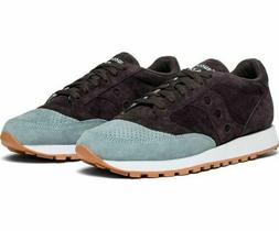SAUCONY JAZZ ORIG Mens Suede Mesh Trainer In White Navy Size