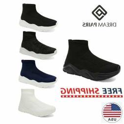 DREAM PAIRS Men's Knit High Top Sock Sneakers Casual Running