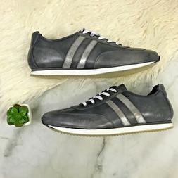 Hardy Footwear Men's Leather Gunmetal Grey Sneakers Size 12