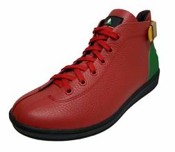 Travel Fox Men's Leather Red/Green/Yellow Sneakers 915601-13