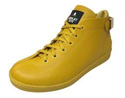 Travel Fox Men's Leather Yellow Sneakers 915601-11