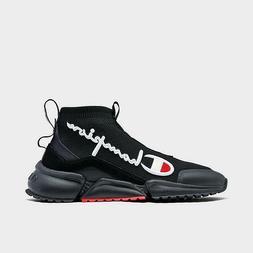 Men's Champion Life RF Mid Shoes Black/White Sizes 8-13 NIB