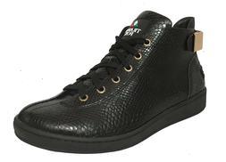 Travel Fox Men's Malibu Black Snake Print Embossed Leather S