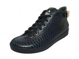 Travel Fox Men's Malibu Navy Snake Print Embossed Leather Sn