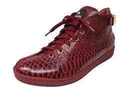 Travel Fox Men's Malibu Red Snake Print Embossed Leather Sne