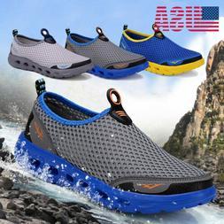 Men's Mesh Quick-dry Water Shoes Lightweight Slip-on Running