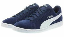 PUMA Men's Navy Blue Smash Suede Gym Tennis Shoes Sneakers