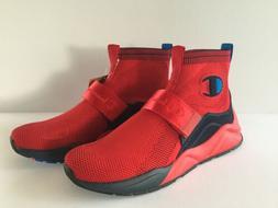 Champion Men's Rally Lockdown Sneakers Hi Top Shoes Red Navy