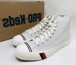 PRO-Keds Men's Royal Leather High-Top Sneaker Size 9 White