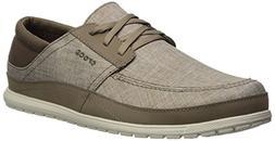 Crocs Men's Santa Cruz Playa Lace M Sneaker, Khaki/Stucco, 1