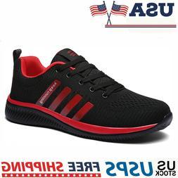 Men's Sneakers Breathable Running Tennis Athletic Walking Tr