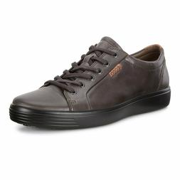 Ecco Men's Soft 7 Comfort Leather Lace-Up Sneakers - Licoric