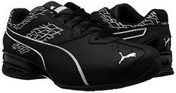 PUMA Men's Tazon 6 FM Puma White Black Silver Running Shoe S