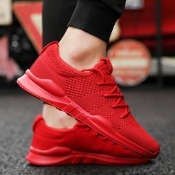 Men's Tennis Shoe Lightweight Fashion Walking Sneakers Breat