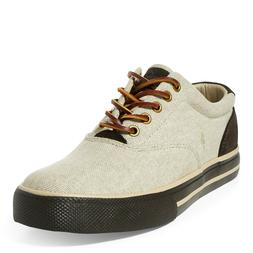 Polo Ralph Lauren Men's Vaughn Canvas Sneakers Natural, Size