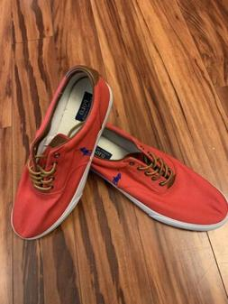 Men's Polo Ralph Lauren Vaughn Lace-Up Sneakers Casual Canva