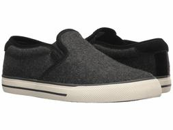 Polo Ralph Lauren Men's Vaughn slip-on II Sneaker, Charcoal