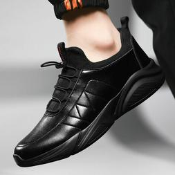 Men's Waterproof Leather Running Shoes Outdoor Sports Breath