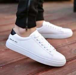 Men vulcanized Flats shoes 2019 fashion students white board