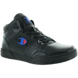 Champion Mens 3 On 3 Leather Sport Trainers Mid-Top Sneakers