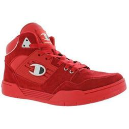 Champion Mens 3 On 3 Suede High Top Trainers Basketball Shoe