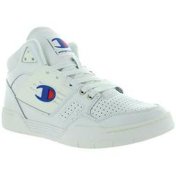 Champion Mens 3 on 3 White Mid-Top Sneakers Shoes 8.5 Medium