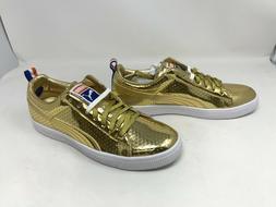 Mens Puma  Clyde Gold Sneakers